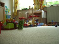 Spielzeug in Kinderzimmer